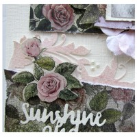 "Sunshine and Smiles - A Single Page Layout  - Layering and Textures - A ""SENZATIONAL"" CLASS by Kerrie Gurney"